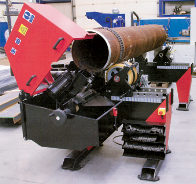 A pipe beveling machine from Promotech