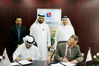 Signing of the agreement for land to set up a new facility