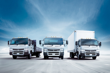 Mitsubishi Fuso trucks. Mitsubishi is a top truck brand in the UAE